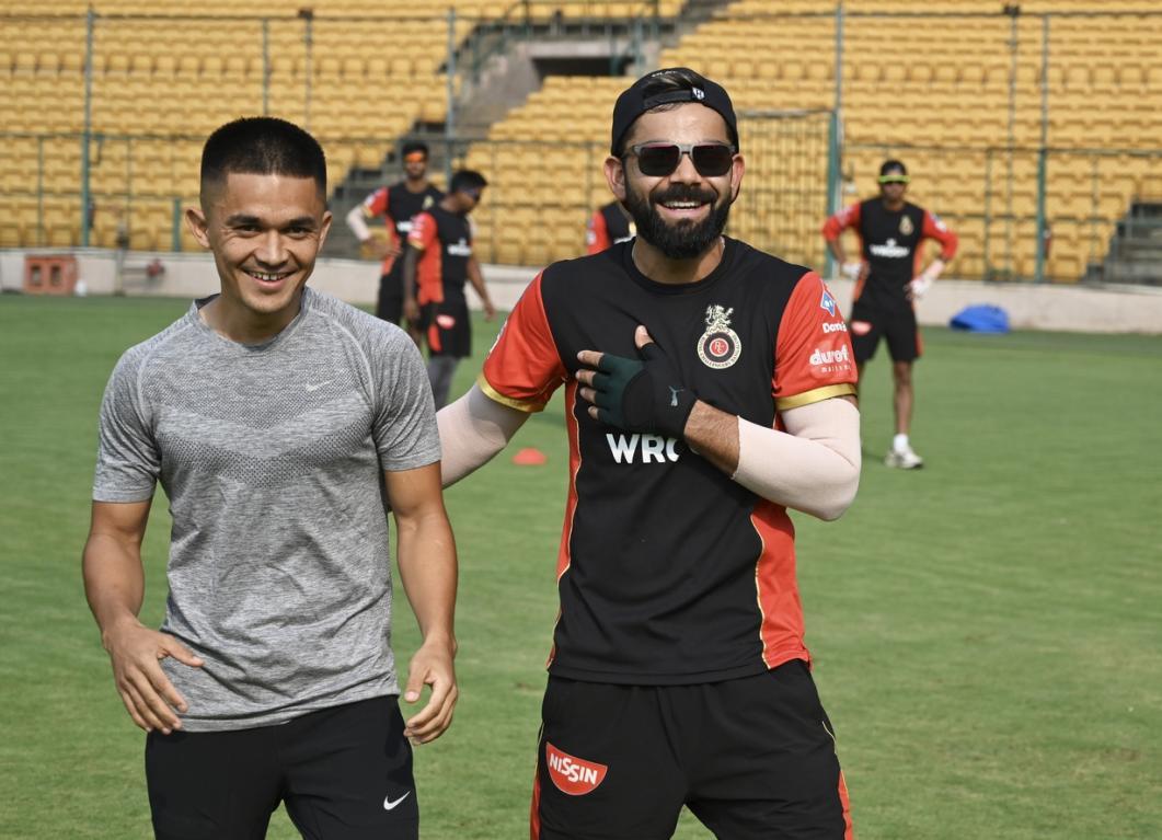 Virat Kohli responds to a challenge from Indian football captain Sunil  Chhetri