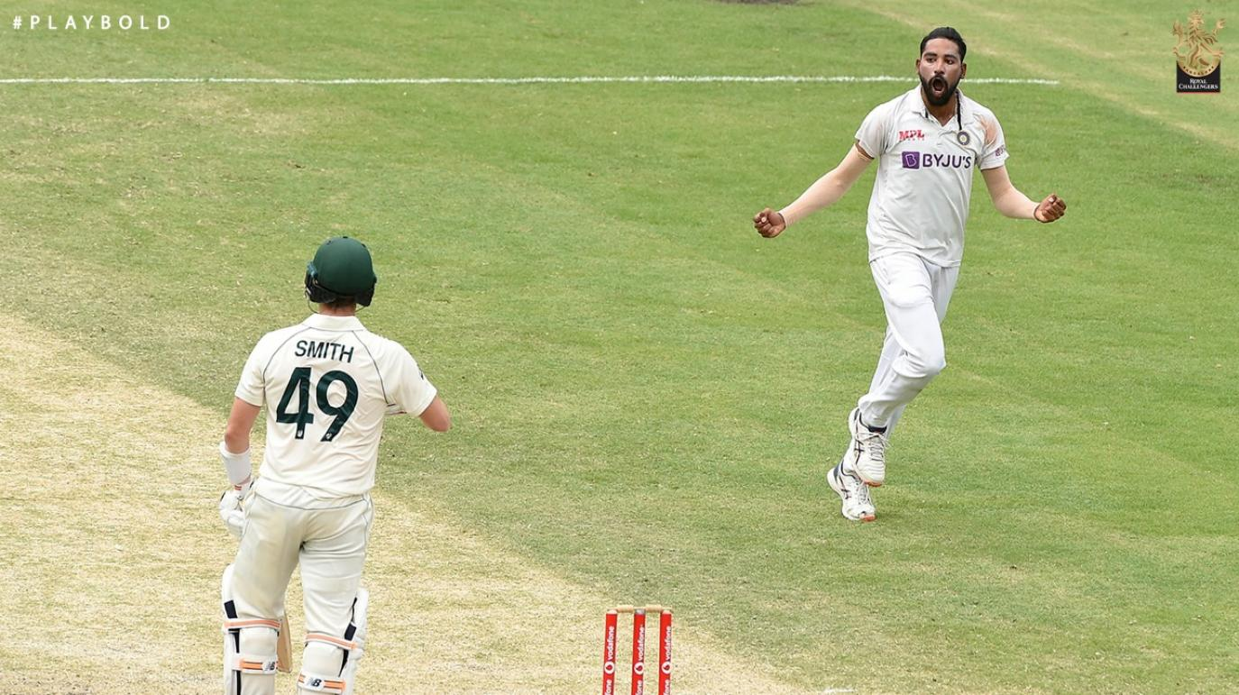 India and RCB pacer, Mohammed Siraj claims maiden five-fer against Australia at the Gabba; cricket fraternity lauds the pacer's effort