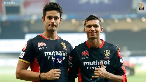 Navdeep Saini and Shivam Dube