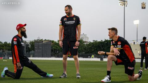 Moeen Ali, Bowling Coach Adam Griffith and Chris Morris RCB Practice 2020